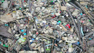 Stock Video Footage of big city waste pollute the water - environmental concept