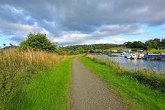 Forth and clyde canal, scotland Stock Photos