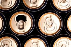 Soda/beer cans Stock Photos