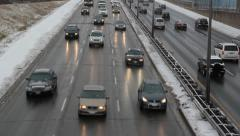 Winter highway. Stock Footage