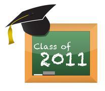 Stock Illustration of class of 2011 school education concept illustration design