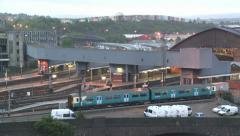 Railway Station Time Lapse Stock Footage