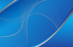 Abstrakti sininen tausta wave kuvitus design Piirros