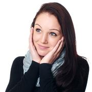 Portrait of a woman in studio Stock Photos