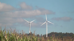 Windmill, Clean Energy from Wind Power Farm, Electricity, 2D, 3D Stock Footage