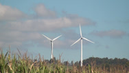 Stock Video Footage of Windmill, Clean Energy from Wind Power Farm, Electricity, 2D, 3D