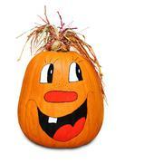 hilarious happy pumpkin - stock photo