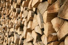 Large pile of firewood Stock Photos