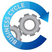 business gear cycle illustration design over white - stock illustration
