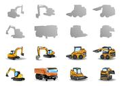 Stock Illustration of construction vehicles