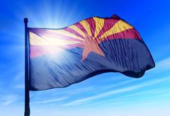 Arizona (usa) flag waving on the wind Stock Illustration