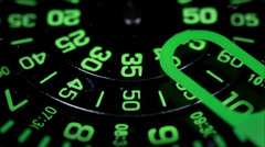 Clock face macro watch time Stock Footage