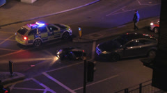 Accident at night in London Stock Footage