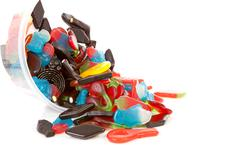 Colorful candy sweets Stock Photos