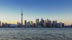 Time-lapse Toronto skyline at dusk Stock Footage