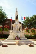 war statue in france - stock photo