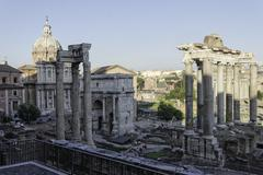 View of foro romano rome Stock Photos