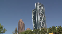 The Bow and previous tallest building Suncor Energy Centre from city hall... Stock Footage