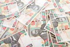 Kenyan currency in closeup Stock Photos