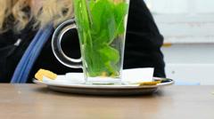 Fresh mint tea Stock Footage