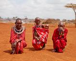 Stock Photo of masai mara, kenya - july-2-2011: unidentified african women from masai tribe