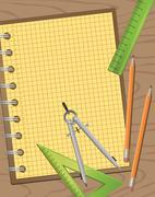 Technical Drawing Equipments Stock Illustration