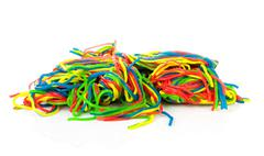 Pile of colorful fruit laces candy Stock Photos