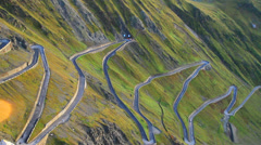 Italy Stelvio Pass Stock Footage