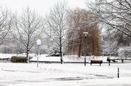 Stock Photo of dutch park in wintertime