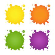 set of color blots - stock illustration