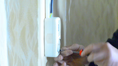 New wall outlet Stock Footage