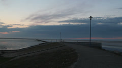 Stock Video Footage of north sea coast evening