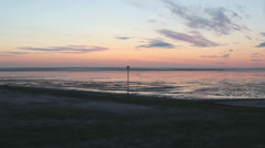 North sea coast evening Stock Footage