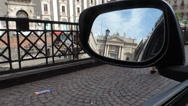 Stock Video Footage of Rearview mirror in Italy.