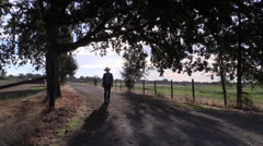 Cowboy , Sheriff walking to camera - stock footage