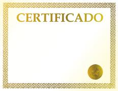 spanish blank certificate. ready to be filled with your individual text. - stock illustration