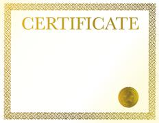 a blank certificate. ready to be filled with your individual text. - stock illustration