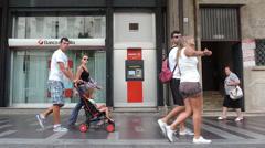 ATM, Banco di Sicilia. Stock Footage