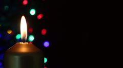 advent christmas candles with copy space - stock footage
