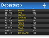 Stock Illustration of airport time departure table illustration design over white