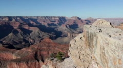 Giant rock formations in the Grand Canyon Stock Footage
