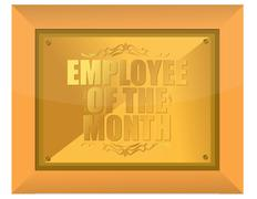 employee of the month award - stock illustration