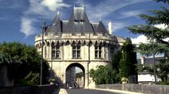 Porte Saint Georges (2) - Vendome France Stock Footage