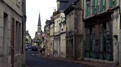 Montoire-sur-le-Loir (2) France Stock Footage