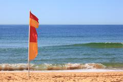 Australian Surf Lifesaving Flag - stock photo