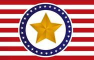 Stock Illustration of us gold star flag illustration design