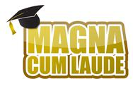 Stock Illustration of magna cum laude graduation sign illustration design