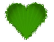 Stock Illustration of green grass illustration heart design
