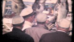 501 - the catch is posted at the docks of Key West - vintage film home movie - stock footage