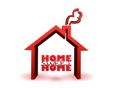 Stock Illustration of home sweet home illustration